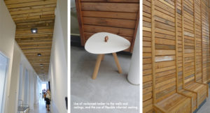 Reclaimed timber and flexible seating spaces at Alliander HQ